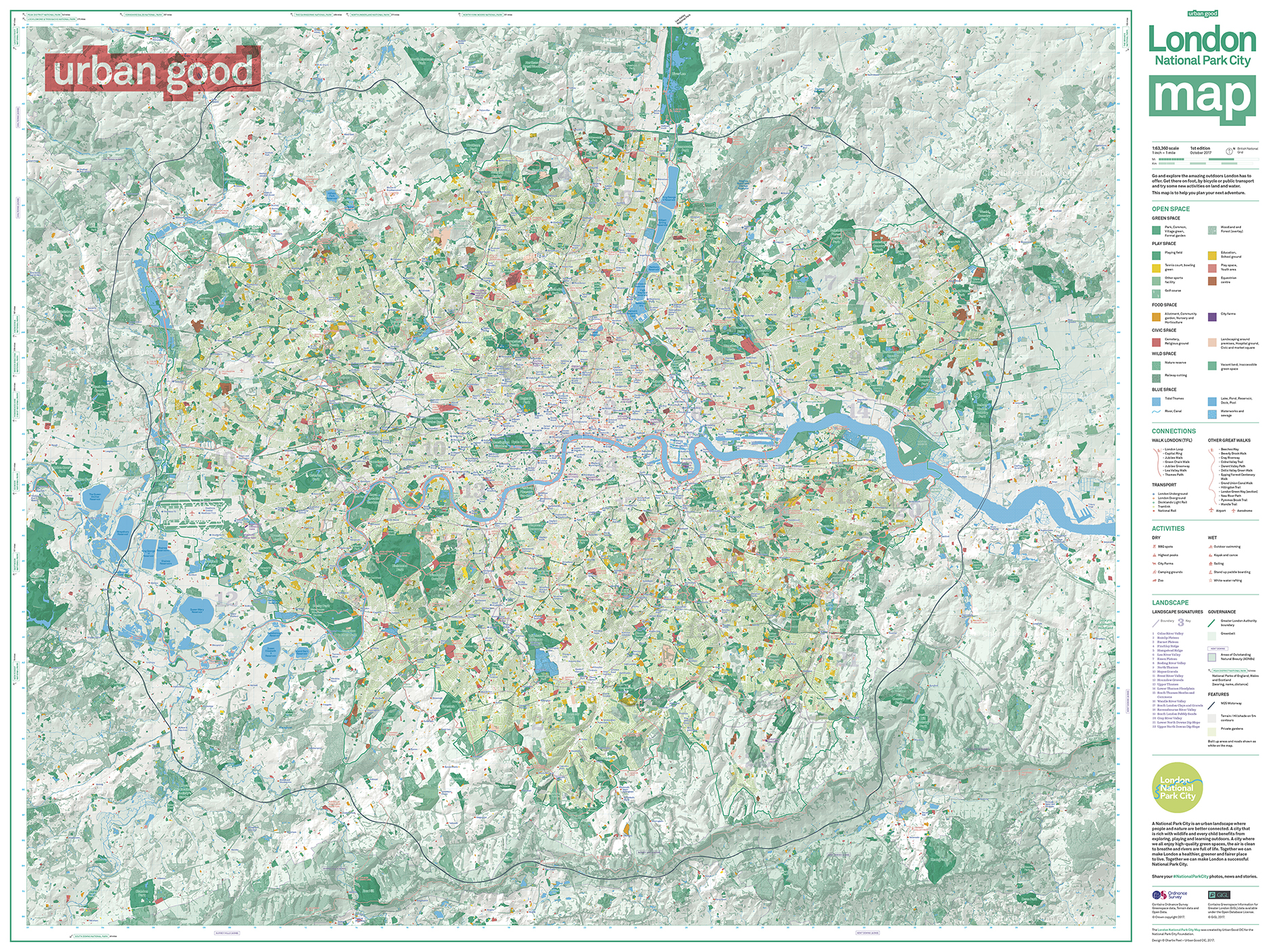 The Urban Good     London National Park City map     Urban Good The Urban Good     London National Park City map