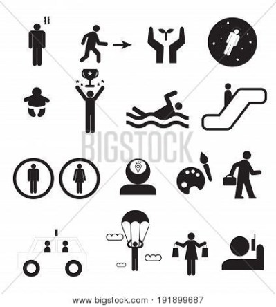 Sign People Life Set. Vector & Photo (Free Trial) | Bigstock