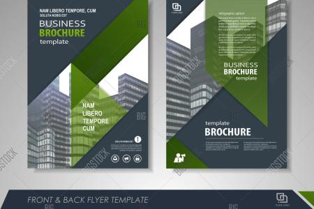 Modern Green Brochure Vector   Photo  Free Trial    Bigstock Modern green Brochure design  Brochure template  Brochures  Brochure layout   Brochure cover