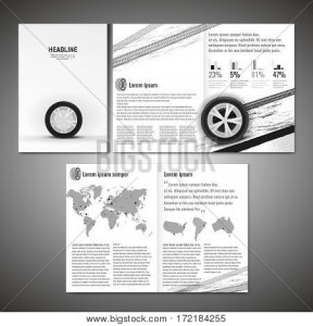 Vector Tyre Brochure Vector   Photo  Free Trial    Bigstock Vector tyre brochure template  Modern idea for flyer  book  booklet   brochure and