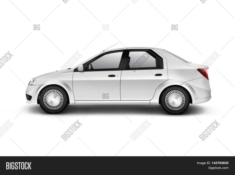 Blank White Car Design Image   Photo  Free Trial    Bigstock Blank white car design mockup isolated side view clipping path 3d  illustration  Clear auto body