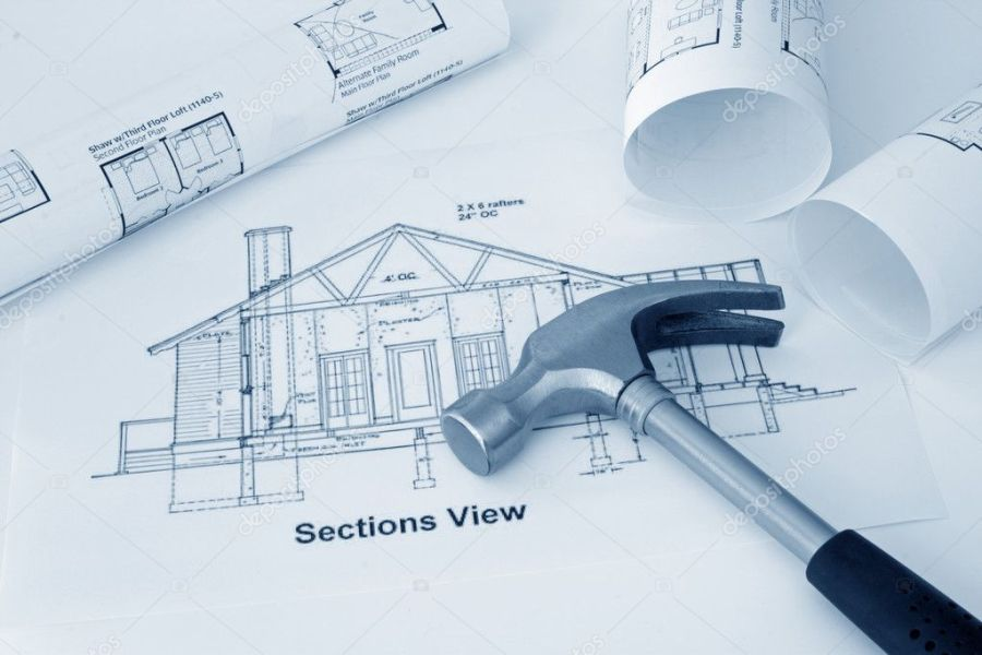 Blueprint of house     Stock Photo      hpboerman  3843110 Blueprint of house     Stock Photo