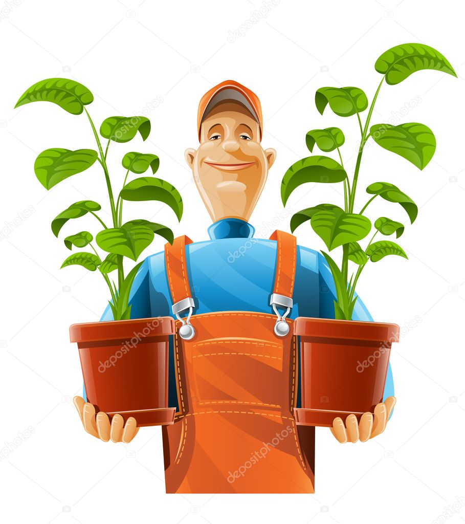 people gardening clip art - HD 986×1080