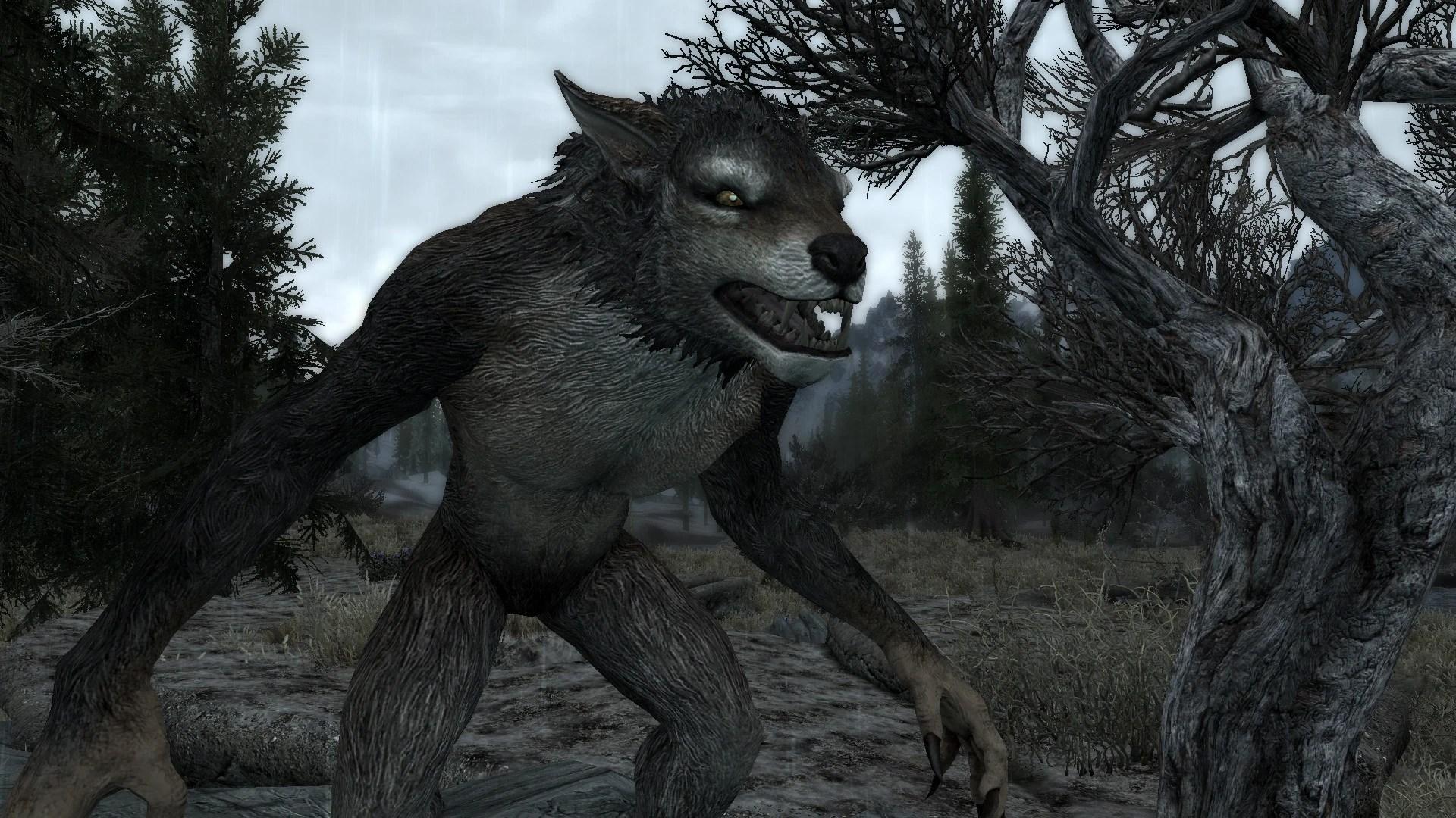 Skyrim Werewolf Line Art