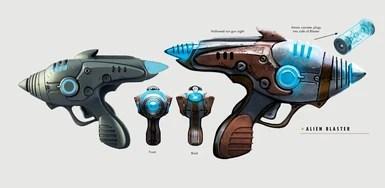 Sci Concept Guns Art Fi