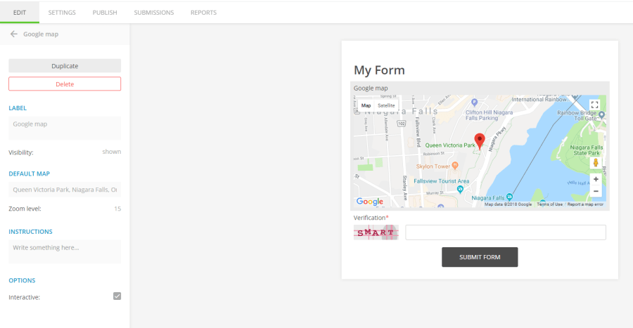 Can I add a Google interactive map to form   123FormBuilder 123FormBuilder Google interactive map