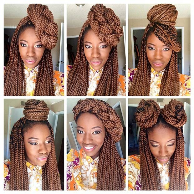 50 Box Braids Hairstyles That Turn Heads   StayGlam Instagram   jessohno shedid