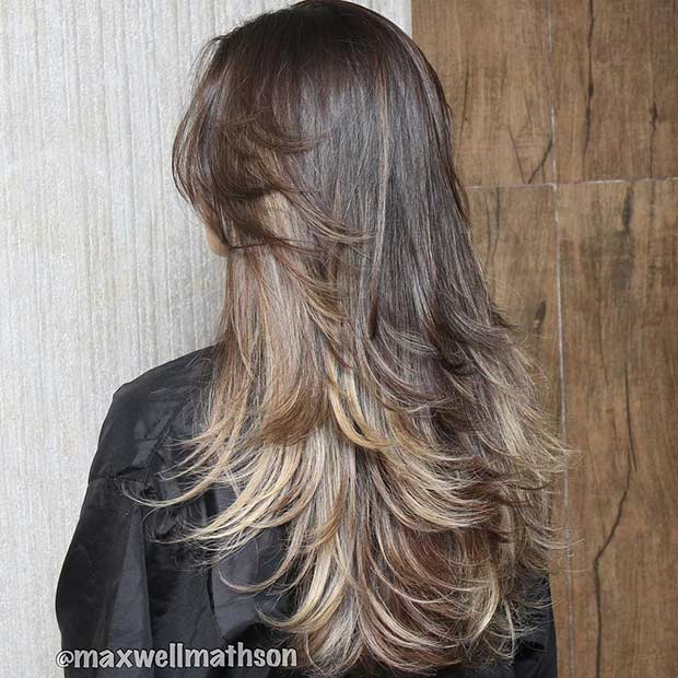 31 Beautiful Long Layered Haircuts   StayGlam Long Layered Haircut for Brunettes