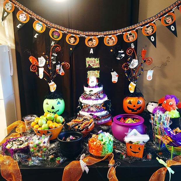 Halloween Themed Baby Shower Cakes