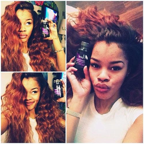 Taylor Teyana Colors Hair