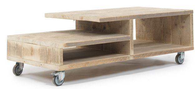 Moderne huis praxis steigerhout tafel moderne huis