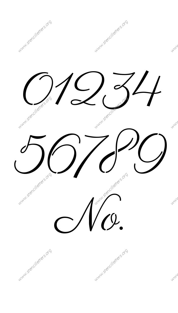 1 Inch Number Templates