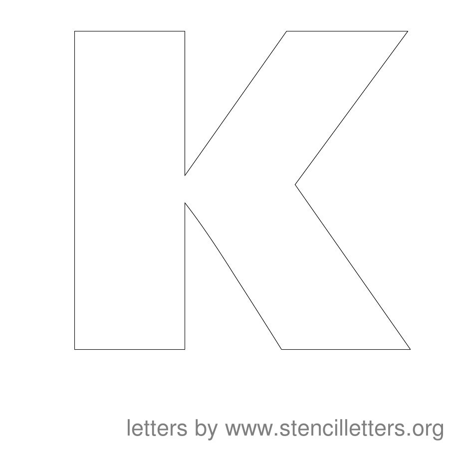 Stencils Printable Bubble Letters V