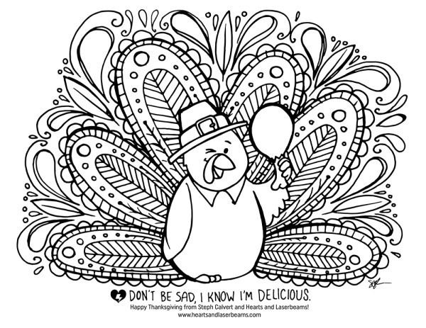 thanksgiving turkey coloring page # 23