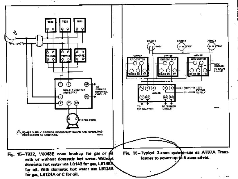 zone valve wiring installation instructions guide to heating within honeywell zone valve wiring diagram taco zone valve diagram