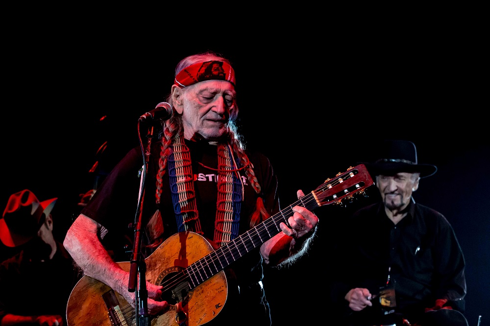 Willie Nelson And Paul English At The Austin Rodeo Www