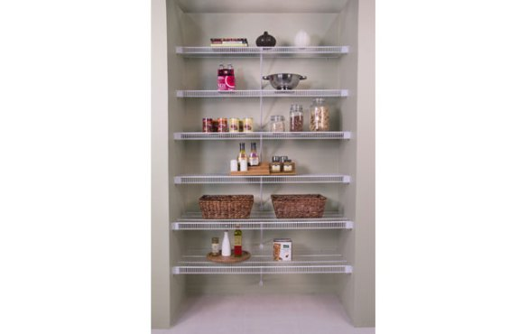 Ventilated Wire Shelving   Custom Closets   Organized Living Lifetime Ventilated Tight Mesh Storage Shelving White Linen Closet