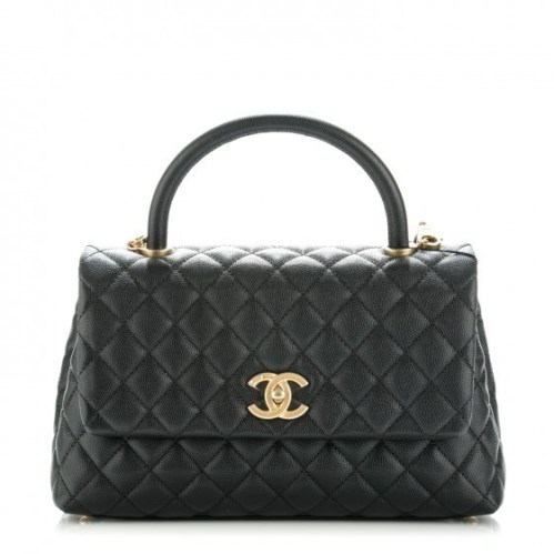 Chanel Coco Handle Flap Quilted Small Black