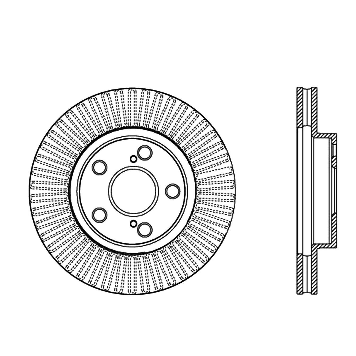 2014 toyota prius disc brake rotor ce 120 44172