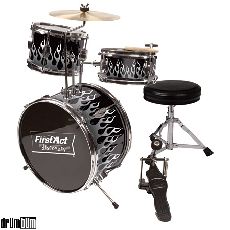 DRUM BUM  DRUMS  DRUM SET  First Act Child Drumset kids drum set flames jpg
