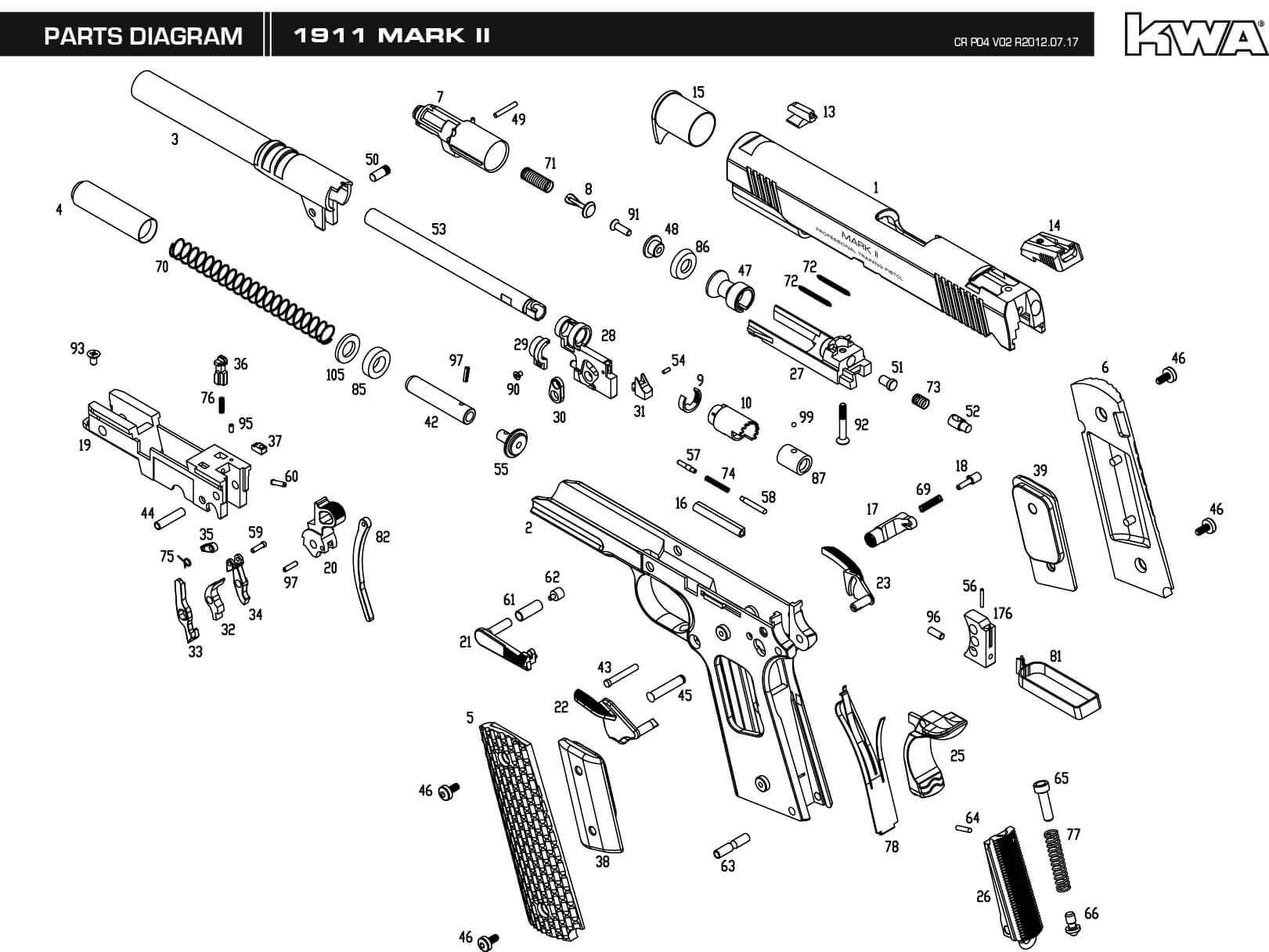 Superb Diagram Parts Kimber 1911 Wiring Cloud Xeiraioscosaoduqqnet