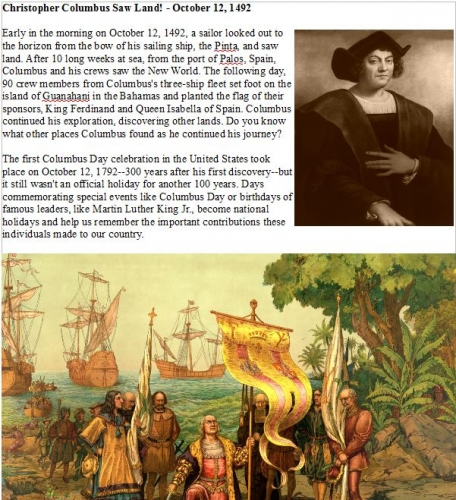Christopher Columbus E Article Free Digital Download