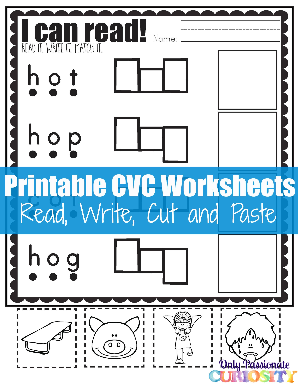 Cvc Words For Kindergarten