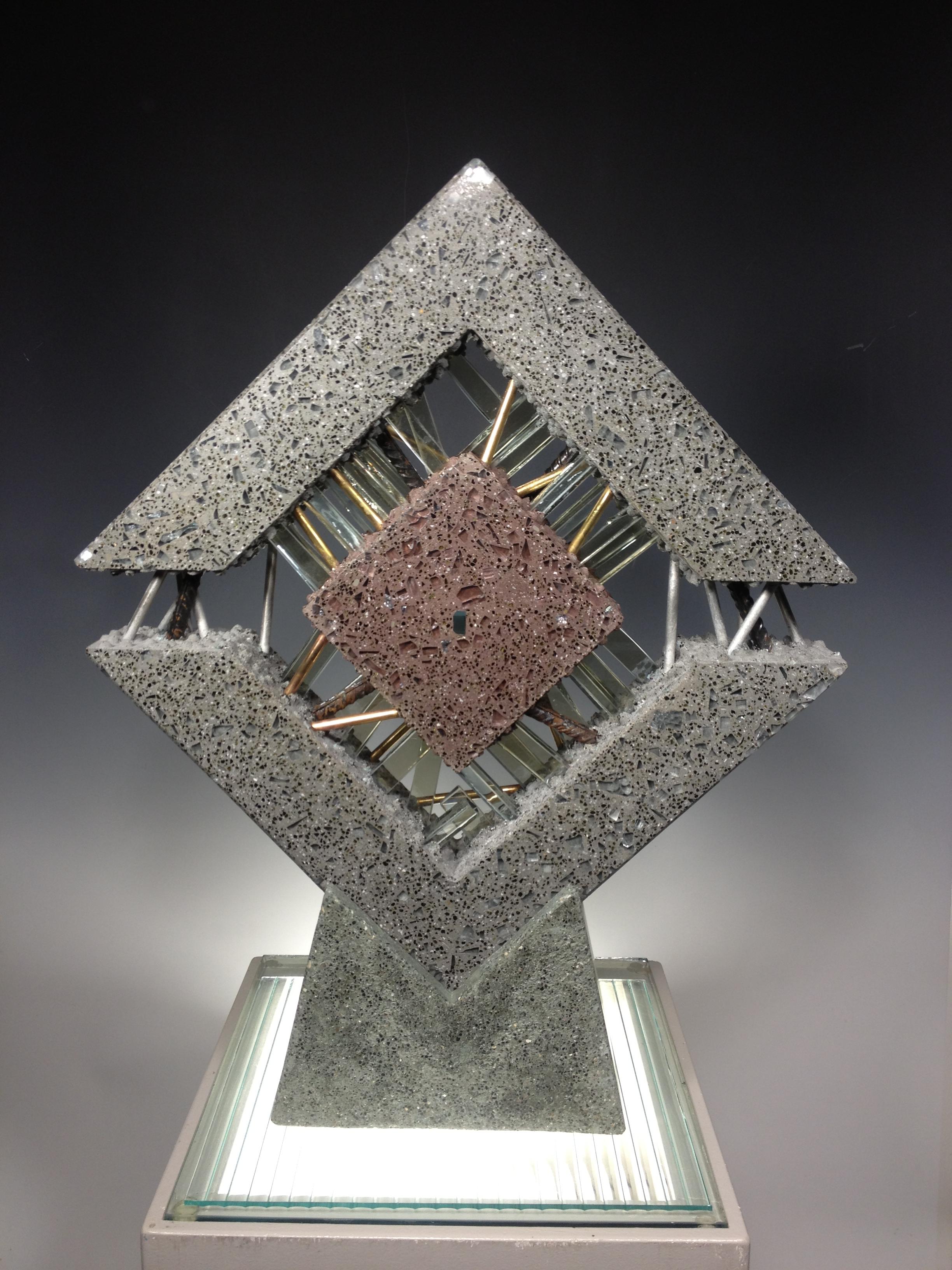 Polished Concrete Glass And Metal Michael Eddy Artist
