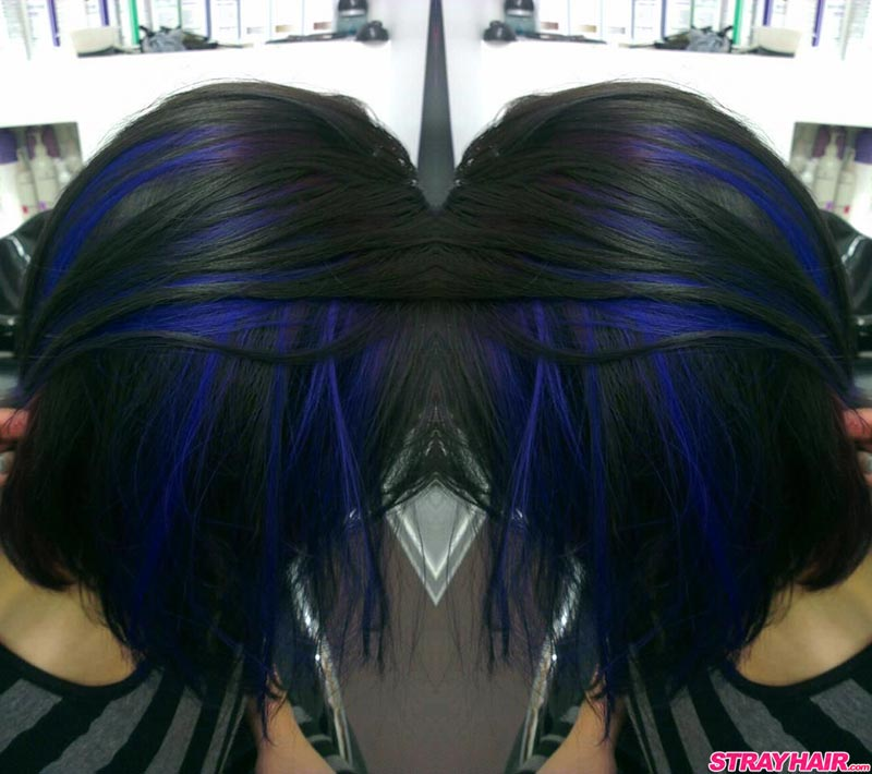 Blue Red Hair Ends
