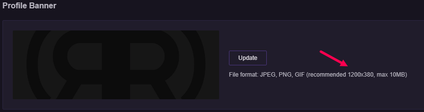 twitch profile banner dimensions