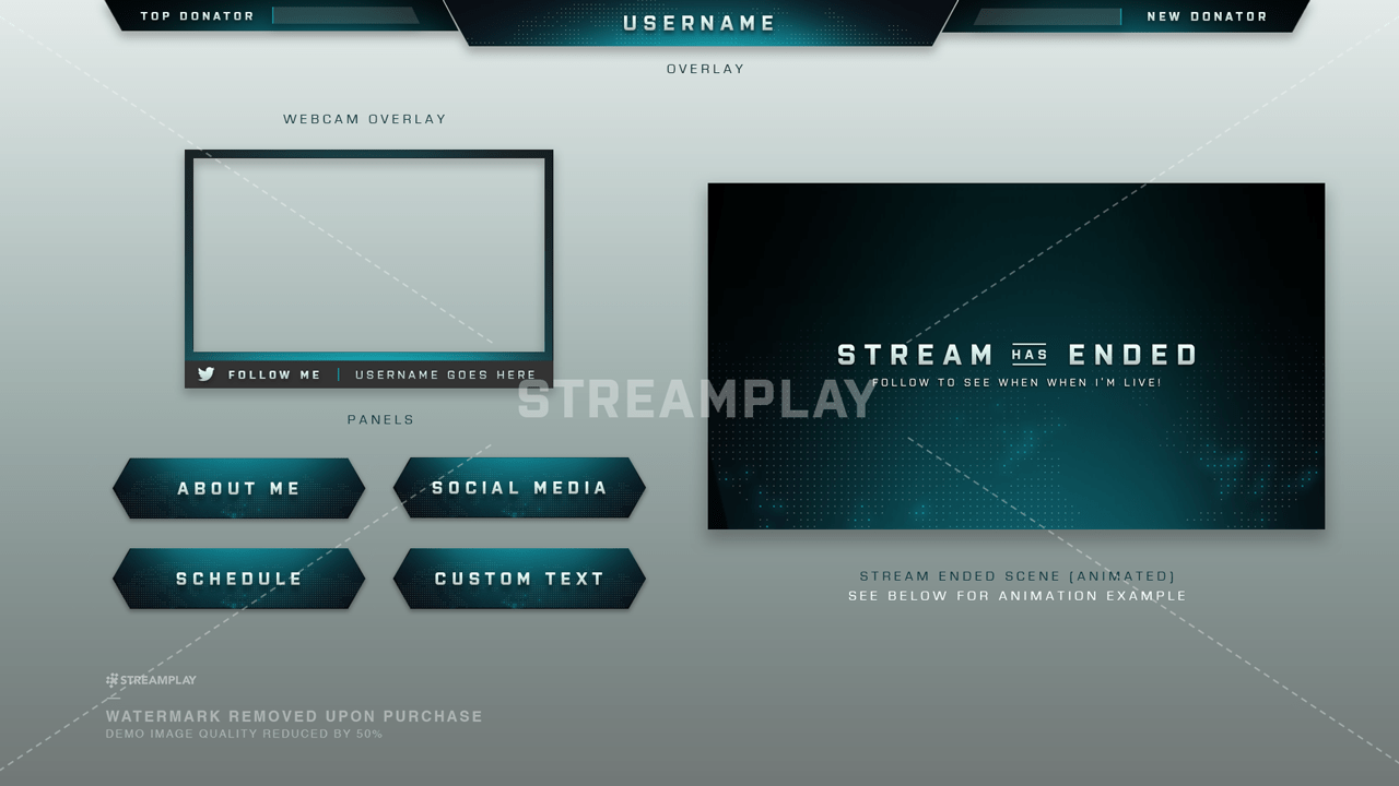 Twitch Overlays - Stream Overlays Fit For OBS - Twitch Layout Templates