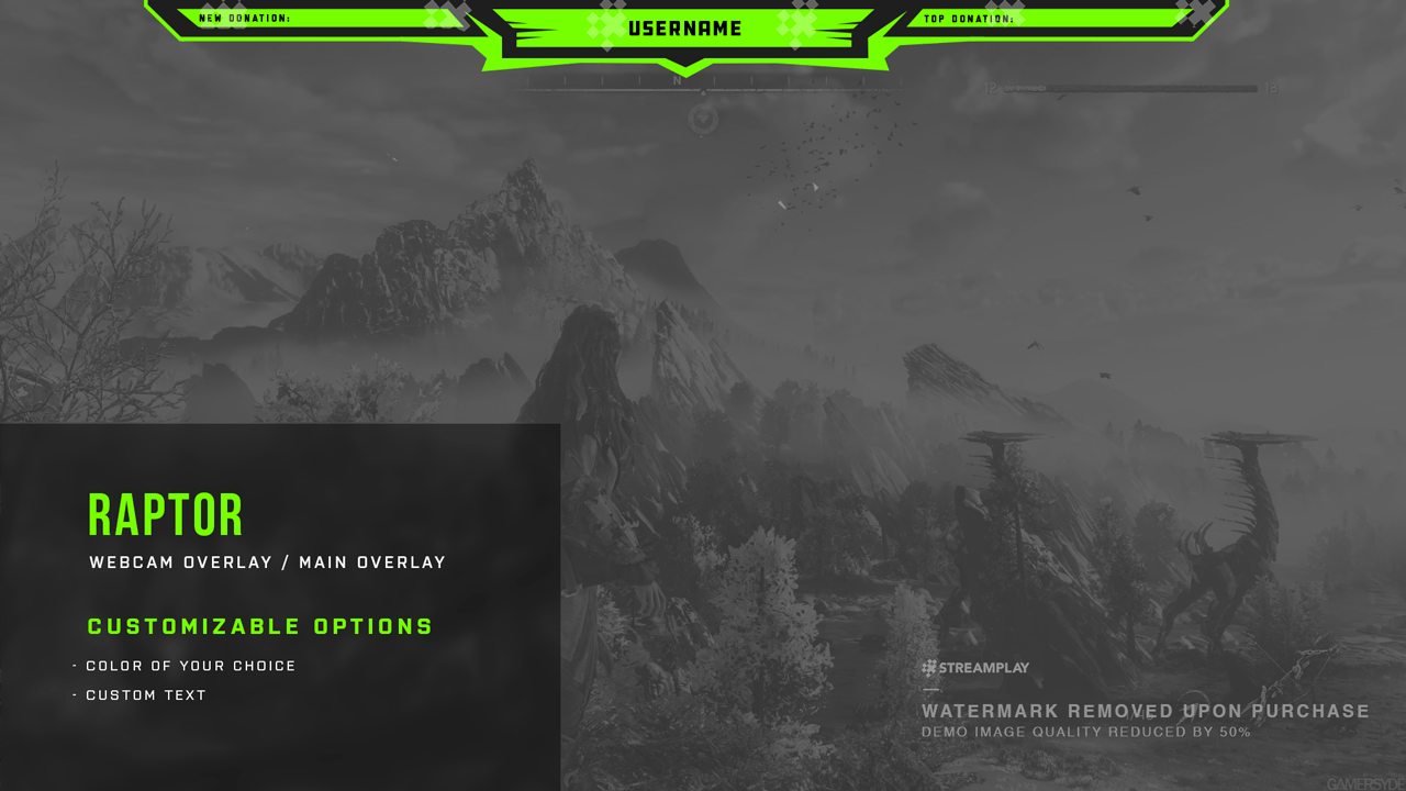 premade overlays for streamers done for you graphics