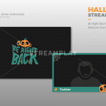 Twitch Halloween webcam overlay package