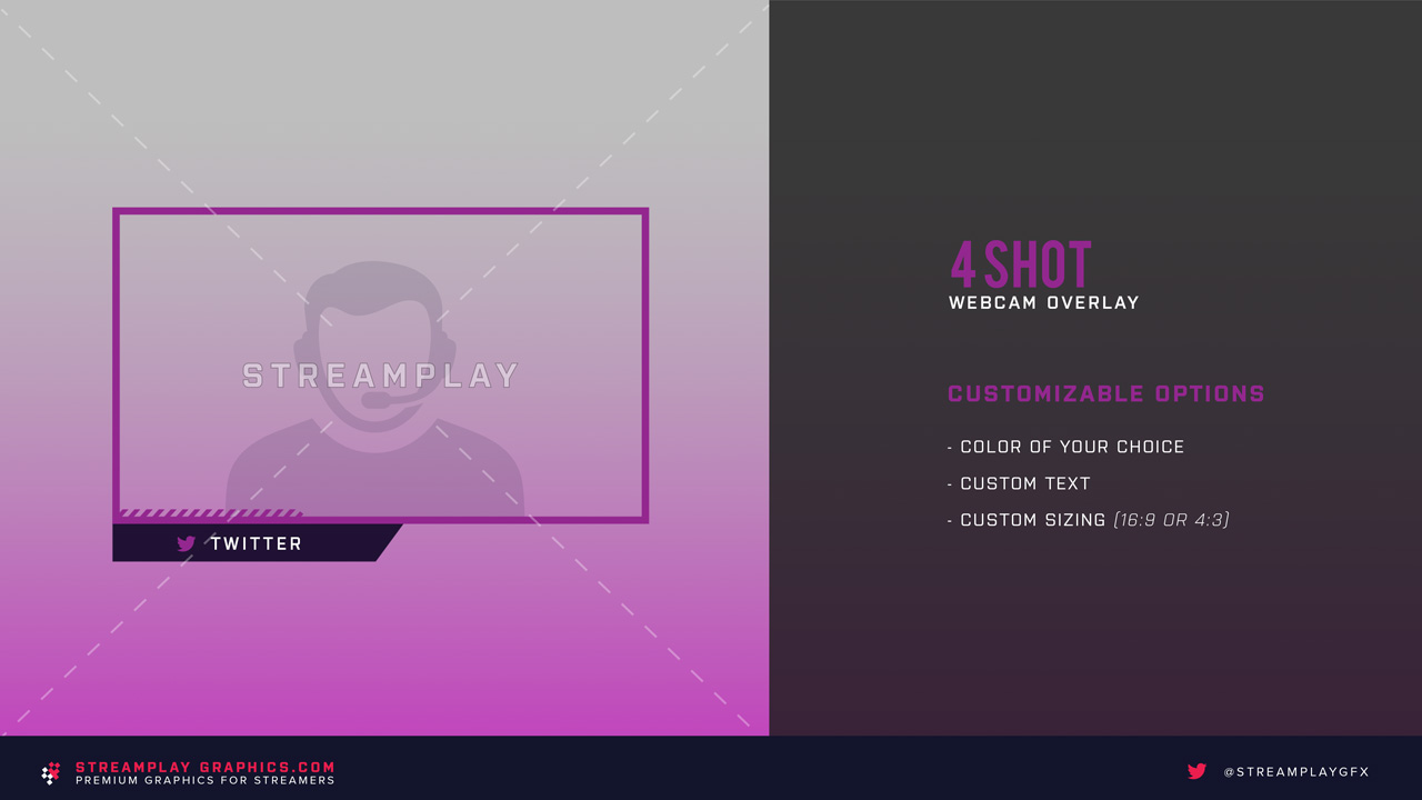 twitch webcam overlay purple background