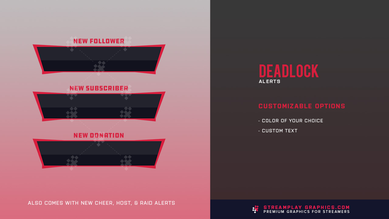 red twitch alerts preview image