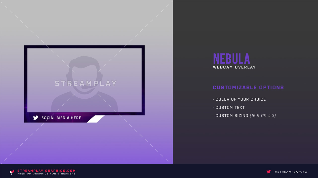 nebula purple twitch cam overlay