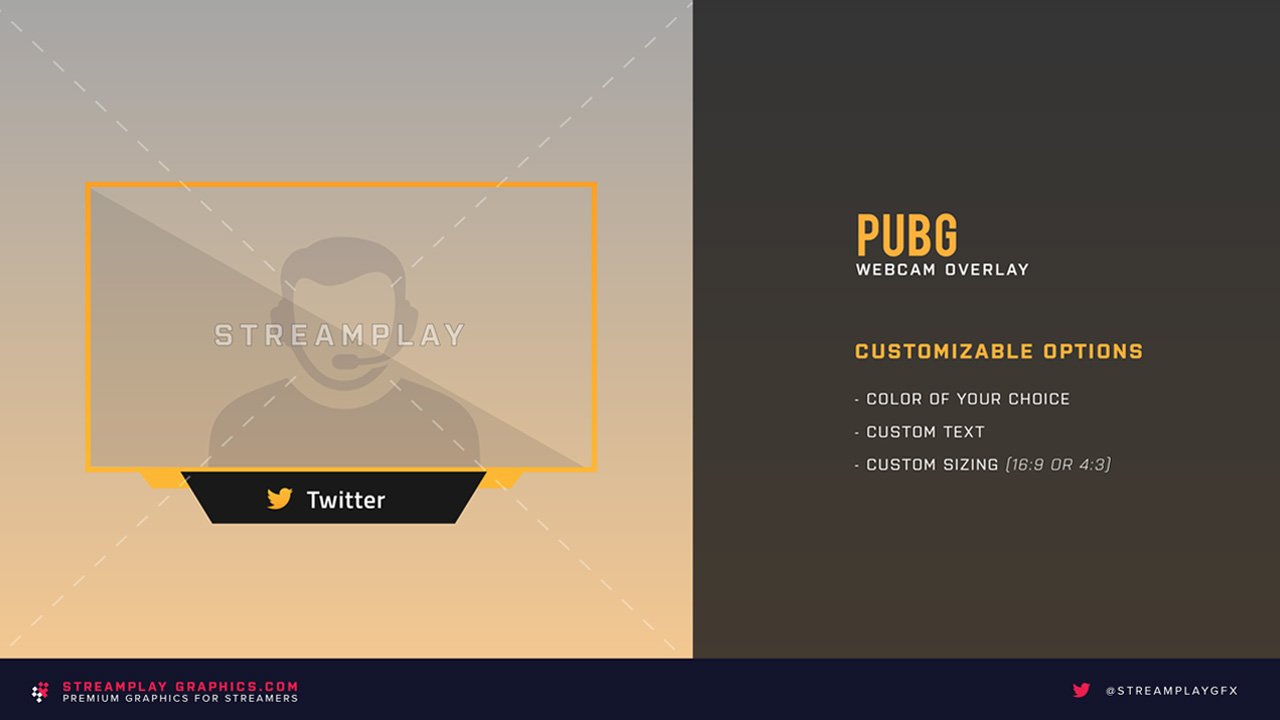 playerunknown's battlegrounds webcam overlay preview