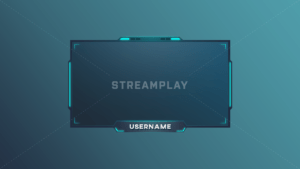 blue twitch webcam overlay