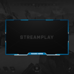blue webcam overlay