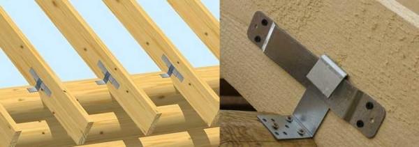 Способ крепления стропильной системы деревчнного дома