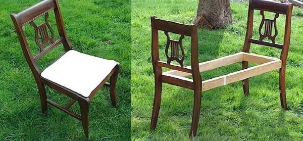 오래 된 의자의 벤치