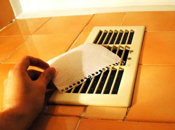 Check how well the ventilation works in the bathroom is easy