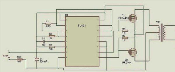 Қалыпты режимде ұсынылған диаграмма 1,5 A немесе 300 Вт, ең көбі 2,5 а, бірақ осы режимде, транзисторлар айтарлықтай болады.