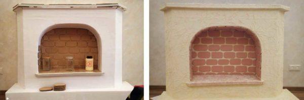 Oto kominek z kartonu