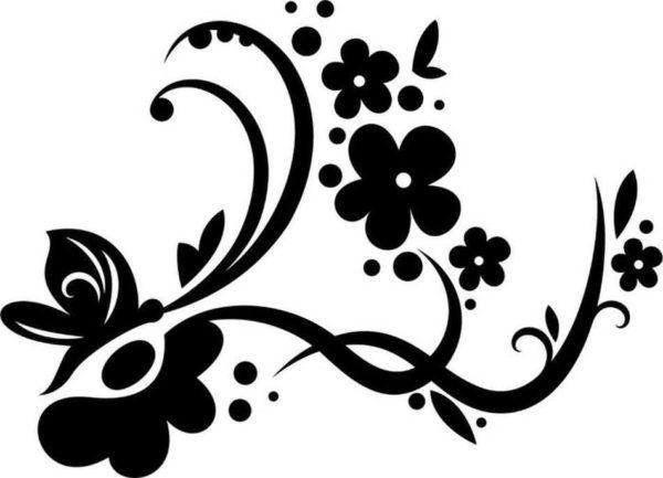 Цветы - еще одна беспроигрышная тема для украшения интерьера
