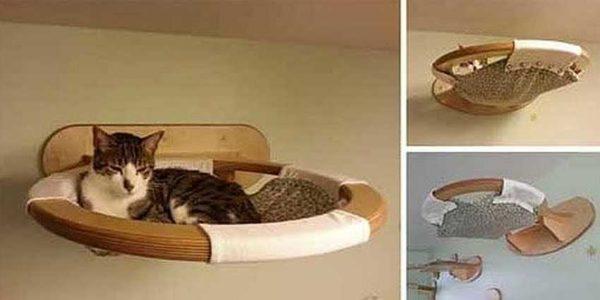 Hammock da parede - conveniente e seguro (para gatos e gatos)