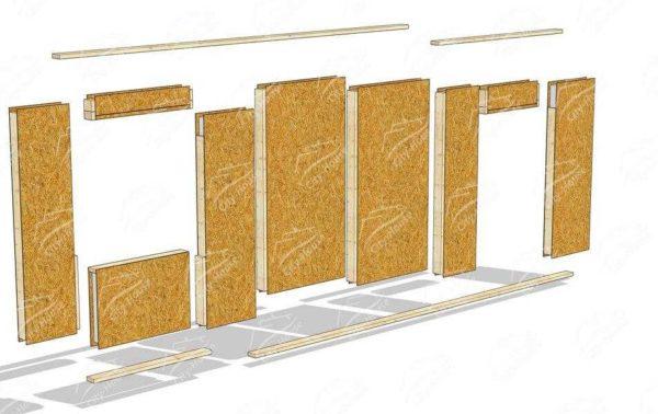 Birinci katın duvarının montaj ilkesi