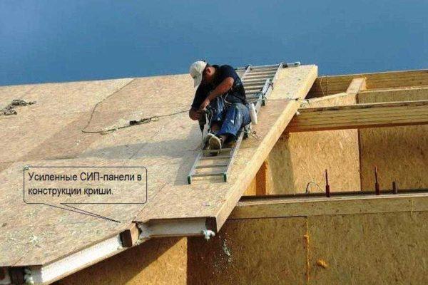 Sandviç panellerden çatı inşa