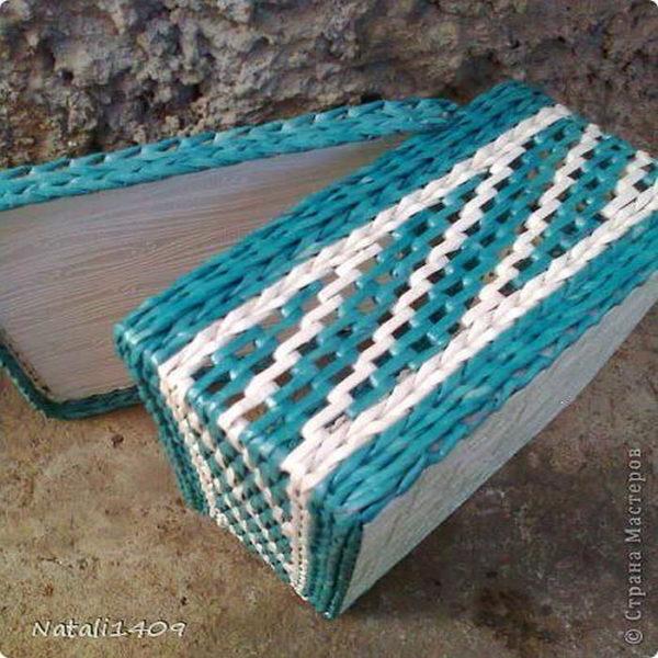 Bahagian ini dibasuh oleh tali biasa, sebahagian - dengan bantuan menenun berlapis
