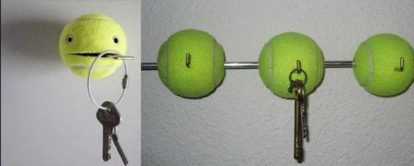 테니스 공은 또한 열쇠 홀더로 잘 작동합니다